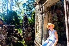 Temple d'Angkor Vat Images libres de droits