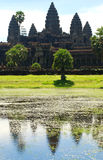 Temple d'Angkor Vat cambodia Photographie stock