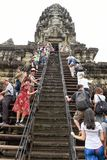 Temple d'Angkor Vat chez Siem Reap au Cambodge Images stock