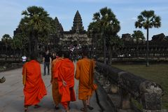 Temple d'Angkor Vat chez Siem Reap au Cambodge Images stock