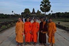 Temple d'Angkor Vat chez Siem Reap au Cambodge Images libres de droits