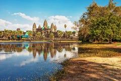 Temple d'Angkor Wat Images libres de droits