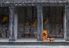 Temple d'Angkor Wat au Cambodge Photo stock