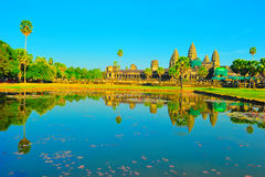Temple d'Angkor Wat avant coucher du soleil, Siem Reap, Cambod Photo stock