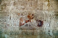 Temple d'Angkor Wat, Siem Reap, Cambodge photo stock