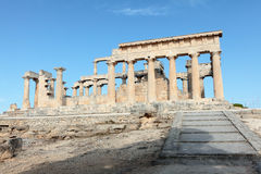 Temple d'Aphaia dans Aegina Photos libres de droits