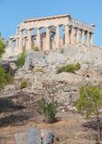 Temple d'Aphaia dans Aegina Photographie stock