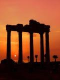 Temple d'Apollo, côté, Turquie Images stock