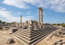 Temple d'Apollo dans Didim Images libres de droits