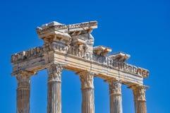 Temple d'Apollo dans le côté photographie stock libre de droits