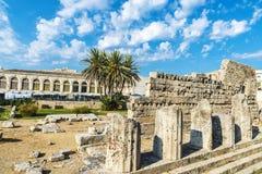 Temple d'Apollo dans Siracusa en Sicile, Italie images stock