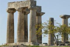 Temple d'Apollo en Grèce Image libre de droits