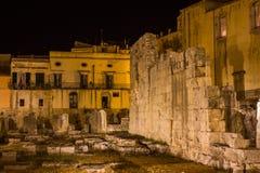 Temple d'Apollo Siracusa - en Sicile photo libre de droits
