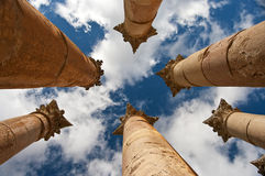 Temple d'Artemis dans Jerash, Jordanie Photo libre de droits