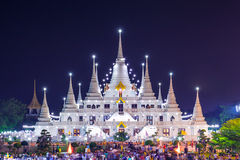 Temple d'Asokaram, province de Samutprakarn, Thaïlande Photo libre de droits