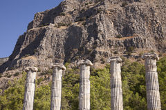 Temple d'Athéna chez Priene, Turquie Image libre de droits