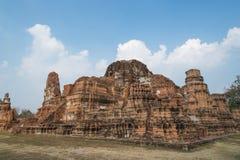 Temple d'Ayutthaya Image stock