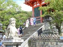 Temple d'or dans Kjoto Image libre de droits