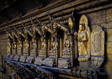 Temple d'or dans Patan, Népal Image stock