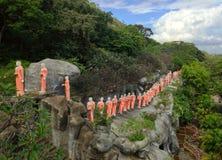 Temple d'or de Buddhas de Dambulla Photos libres de droits
