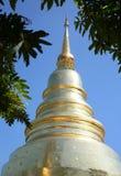 Temple d'or de pagoda en Thaïlande Images libres de droits