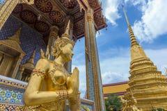 Temple d'Emerald Buddha ou de Wat Phra Kaew, palais grand, Bangkok, Thaïlande Photographie stock