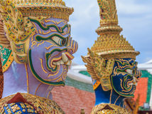 Temple d'Emerald Buddha ou de Wat Phra Kaew, palais grand, Bangkok, Thaïlande Photographie stock libre de droits