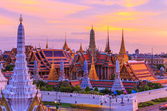 Temple d'Emerald Buddha ou de Wat Phra Kaew, palais grand, Bangkok, Thaïlande Photo libre de droits
