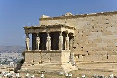 Temple d'Erechteion à Athènes, Grèce photographie stock