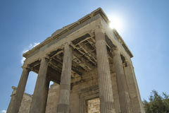 Temple d'Erechtheion à Athènes Grèce Photos stock