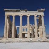 Temple d'Erechtheion, Acropole d'Athènes Images libres de droits