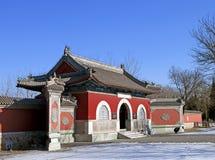 Temple d'impératrice de Beiding Taishan Images stock
