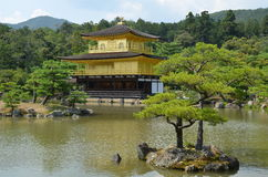 Temple d'or Japon Photos stock