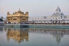 Temple d'or sikh au lever de soleil image libre de droits