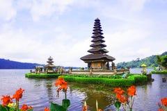 Temple d'Ulun Danu, Bali image stock
