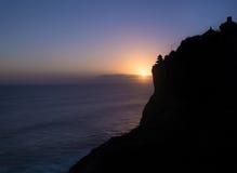 Temple d'Uluwatu de silhouette Photographie stock