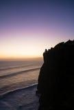 Temple d'Uluwatu de silhouette Photo libre de droits