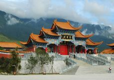 A temple in Dali of China. Congsen Temple in Dali of China royalty free stock photos
