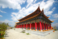 Temple in Dali. Chong Shen Monastery and the 3 pagodas in Dali, Yunnan Stock Photo