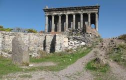 Temple dans Garnia - un temple païen en Arménie image stock