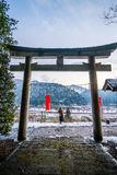 Temple dans Kayabuki aucun Sato dans Miyama Images libres de droits