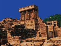 Temple dans Knossos, vecteur de Crète, Grèce Image libre de droits
