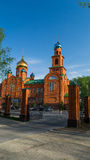 Temple dans l'intérêt de saint sacré Serafima Sarovsky Image libre de droits