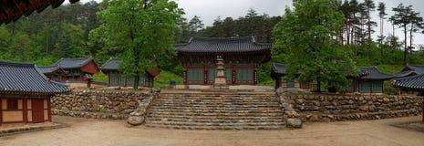 Temple dans la région de Kumgang, DPRK (Corée du Nord) Photo stock