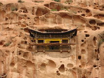 Temple dans la roche Photos stock