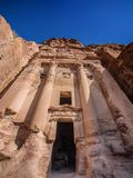 Temple dans la ville perdue de PETRA Photos libres de droits