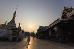 Temple dans le nord de la Thaïlande Image libre de droits