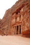 Temple dans PETRA Image stock