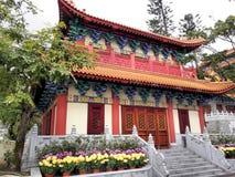Temple dans PO Lin Monastery Hong Kong images libres de droits