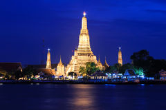 Temple of Dawn или Wat Arun, Таиланд стоковые фотографии rf